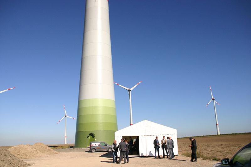 Turm unserer Windkraftanlage